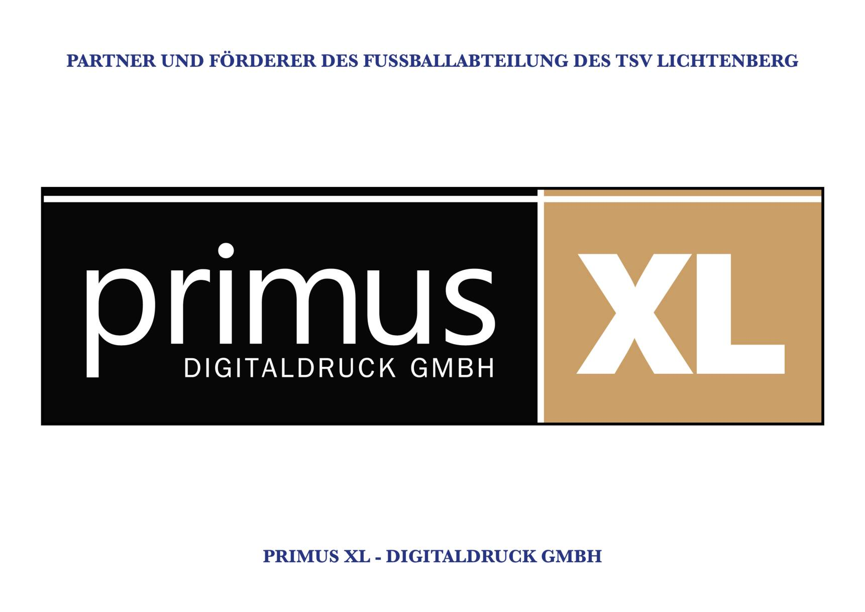 TSV Lichtenberg - Sponsoren (Primus XL Digitaldruck GmbH)